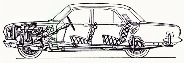 компоновочная схема ГАЗ-24
