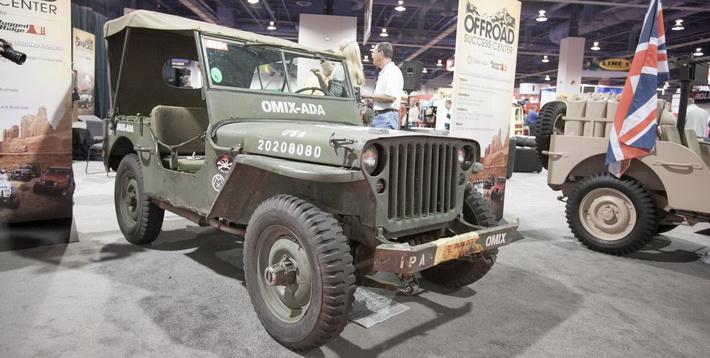 Реставрированный Ford GPW на выставке