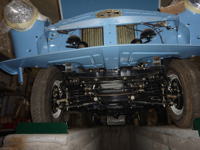 The restoration of the car chassis