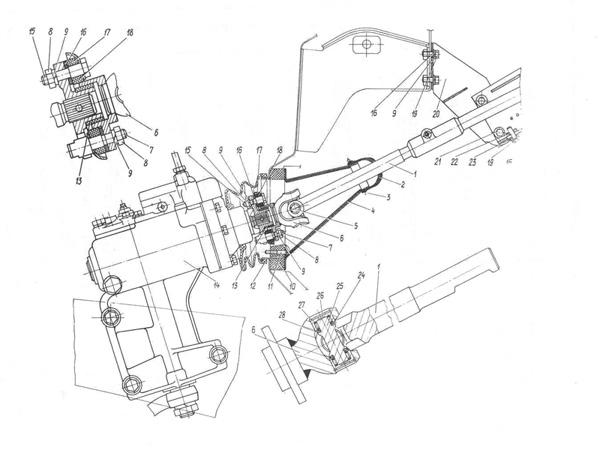 der lenkmechanismus mit hydraulik 4104 3400020 zum auto. Black Bedroom Furniture Sets. Home Design Ideas