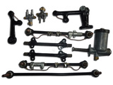 Set of suspension parts with central lubrication system
