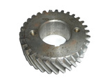 Pinion gear distributive a bent shaft
