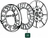 Ring frictional a clutch plate