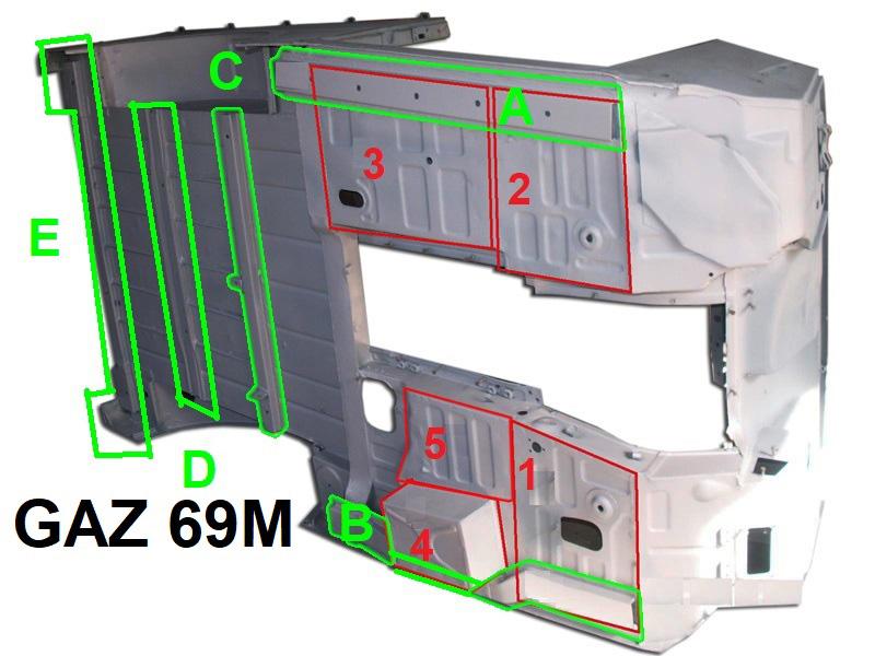 laengstraeger 6 zum auto gaz 69 uaz 469 kaufen lieferung. Black Bedroom Furniture Sets. Home Design Ideas
