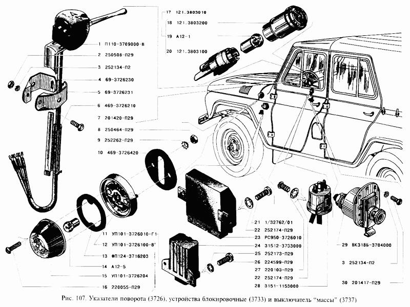 Schalter des elektrischen Stroms zum auto GAZ 69 UAZ 469 kaufen ...