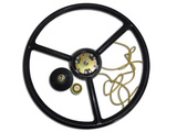 Steering wheel with button signal assembly