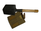 Sapper shovel with bag