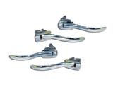 Set of handles of doors