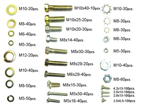 Set of original bolts, nuts and washers for GAZ cars