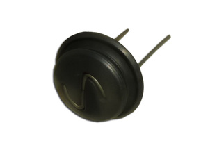 The absorber of the horn button with contact spring