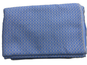 Car interior fabric blue