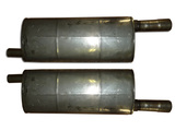 Muffler and heat insulation, right&left, assy
